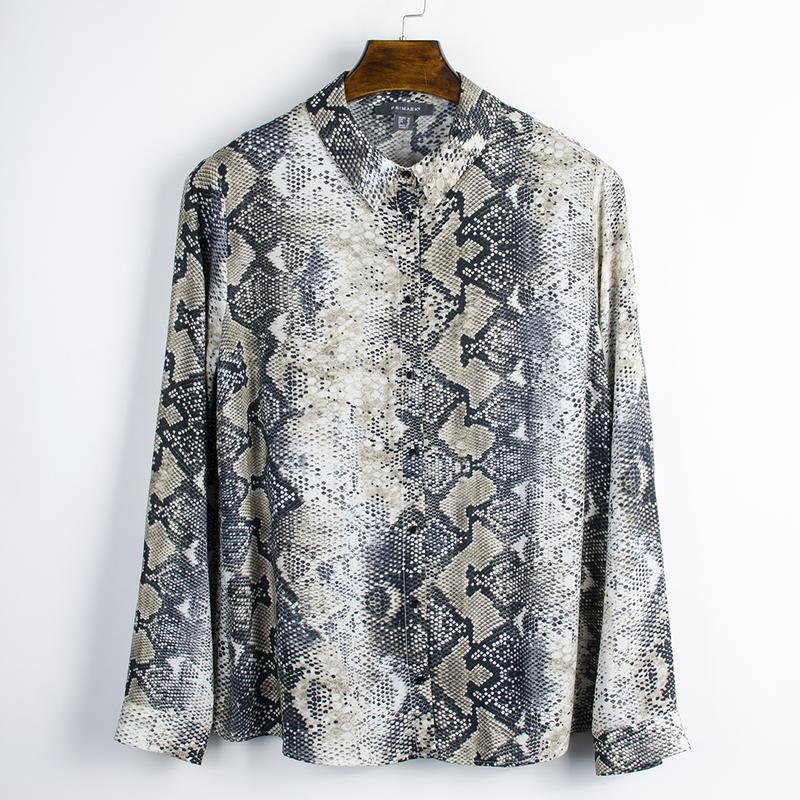 Женская рубашка с анималистичным принтом, оверсайз рубашка с д...