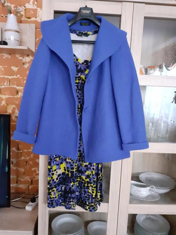 Идеальный комплект ( платье+легкое полупальто) большого размера