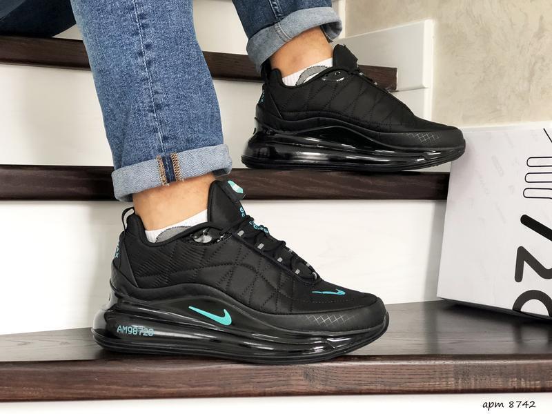 Nike air max 720 black мужские демисезонные кроссовки найк осе...
