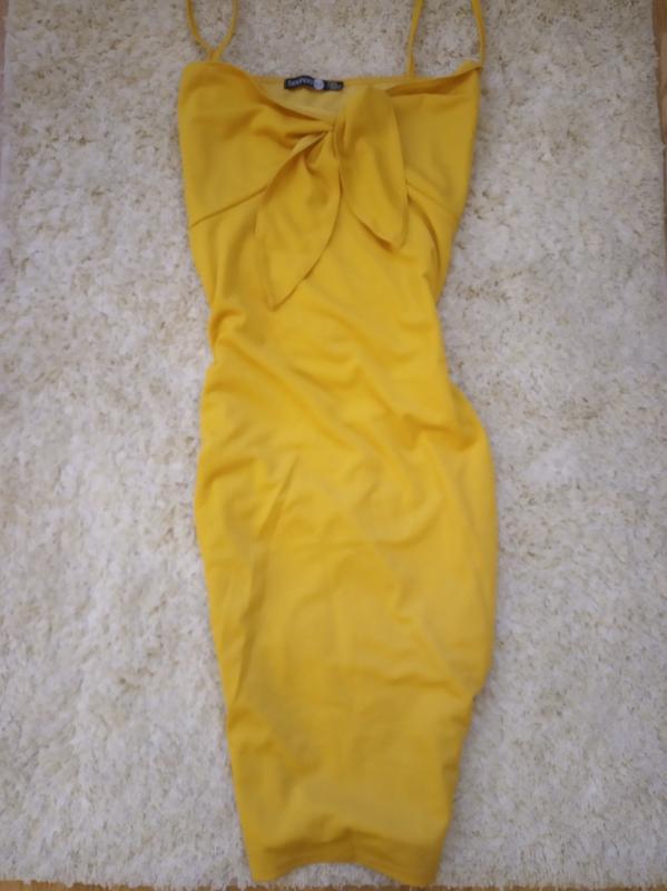 Желтое платье сарафан boohoo