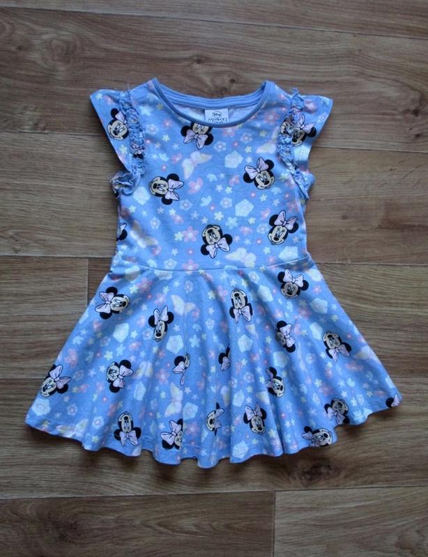 Трикотажное платье с минни