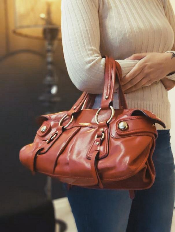 Dkny 100% оригинальная кожаная сумка.