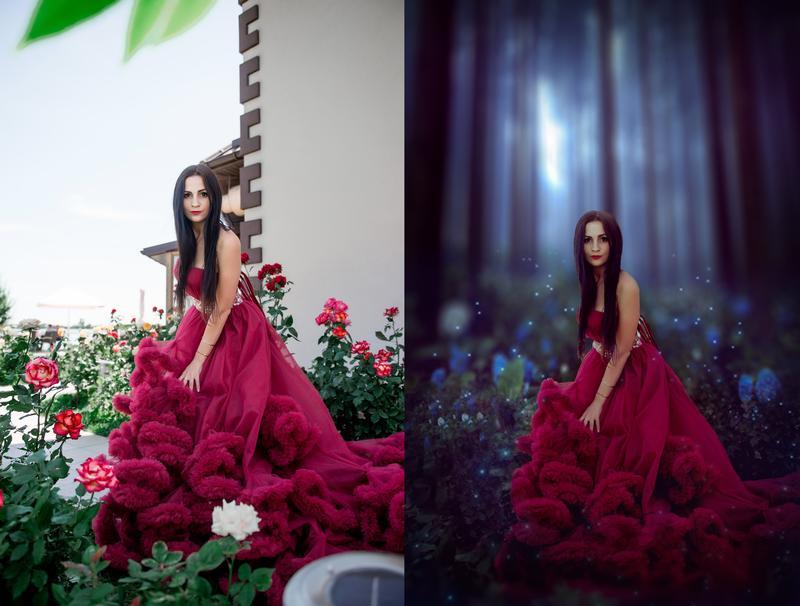 Сказочная, волшебная обработка, ретушь фотографии в Adobe Phot... - Фото 3
