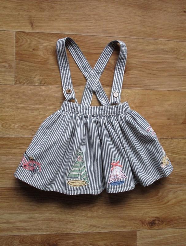 Пыштая юбка с лямками