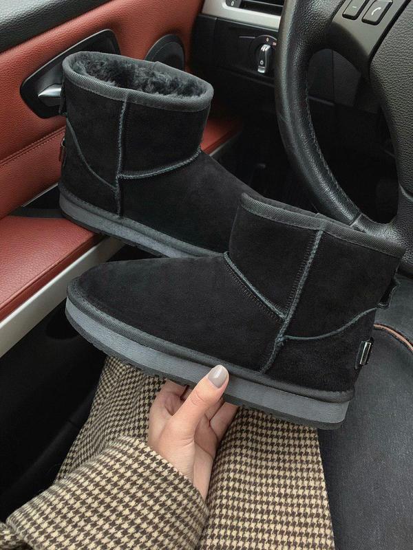 Шикарные женские замшевые зимние угги/ сапоги/ ботинки/ лунохо...