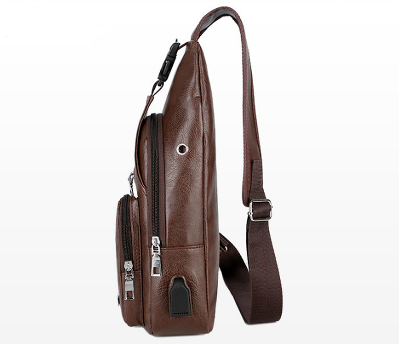 Мужская чоловіча сумка городской рюкзак сумка слинг бананка. p... - Фото 2