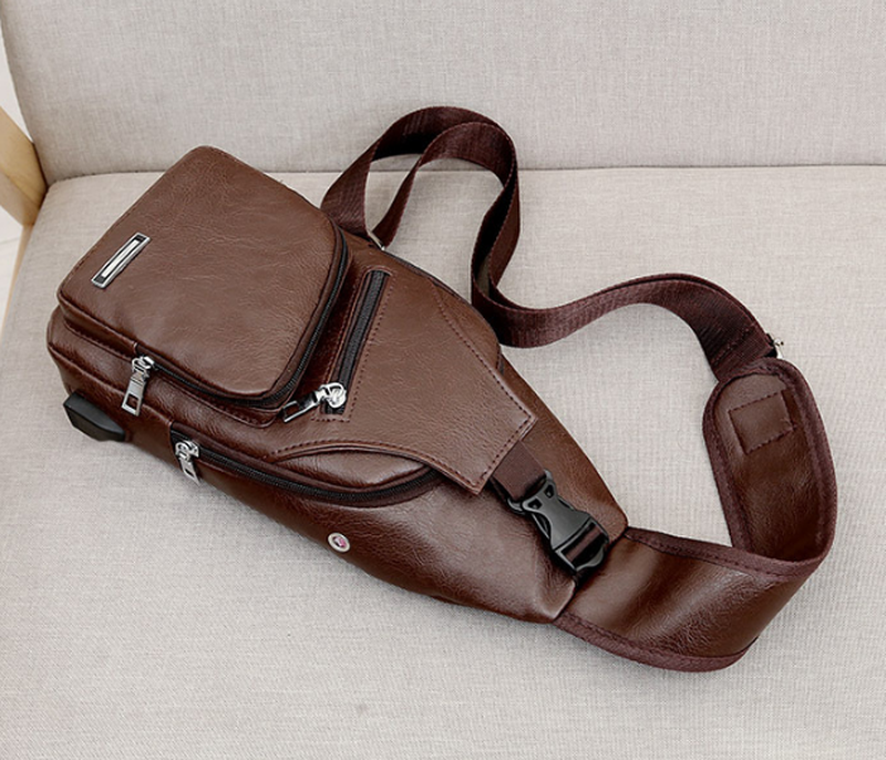 Мужская чоловіча сумка городской рюкзак сумка слинг бананка. p... - Фото 4