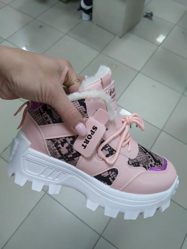 Зимние женские ботинки кроссовки