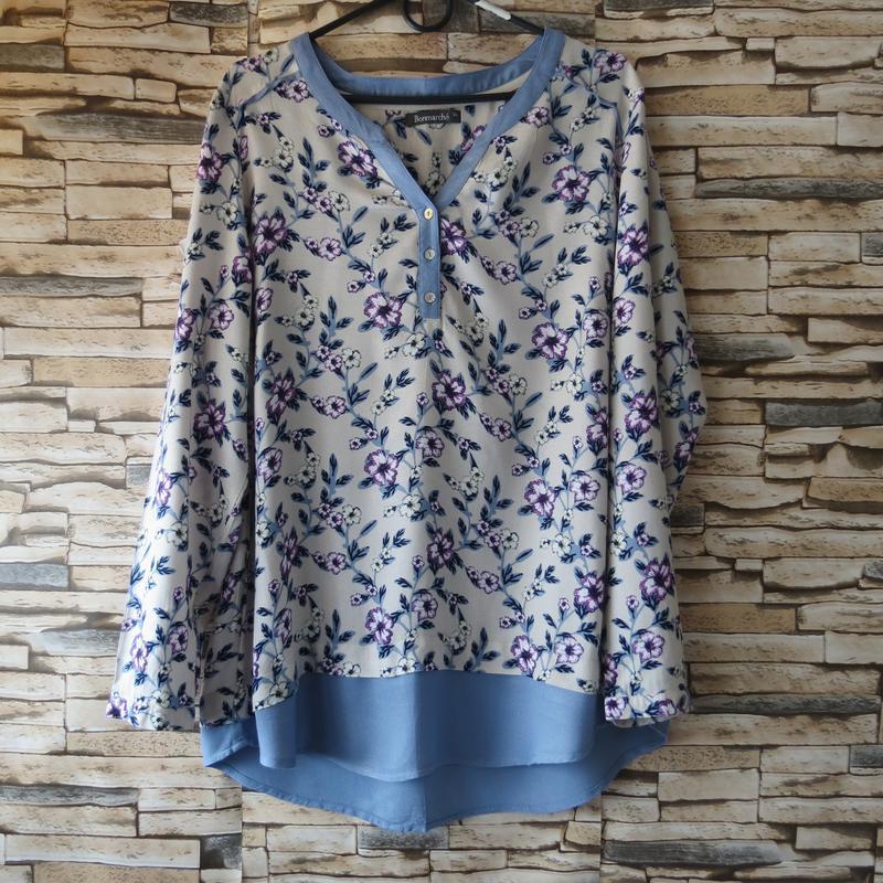 Блуза, рубашка  с длинным рукавом16 размер