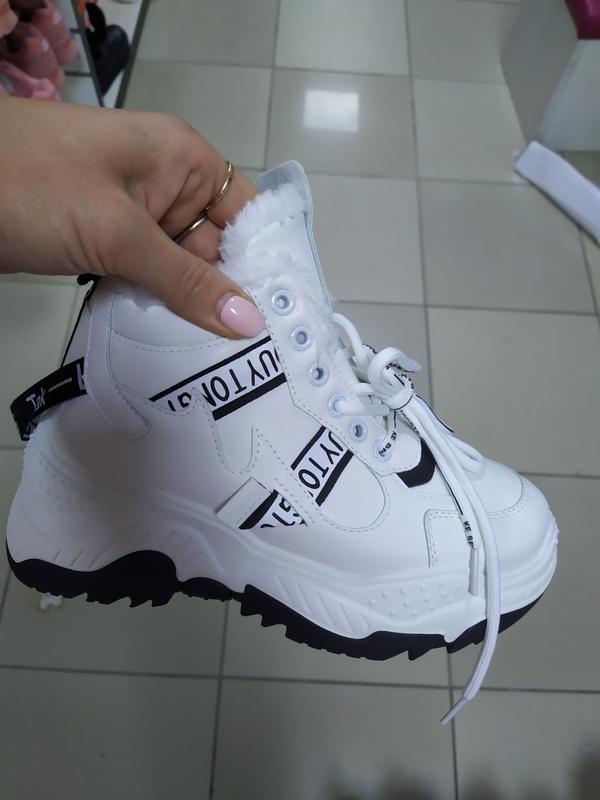 Зимние женские ботинки кроссовки 36-41 маломерки  на меху