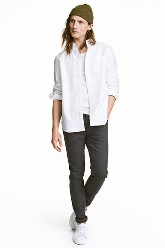 Твиловые брюки skinny fit h&m