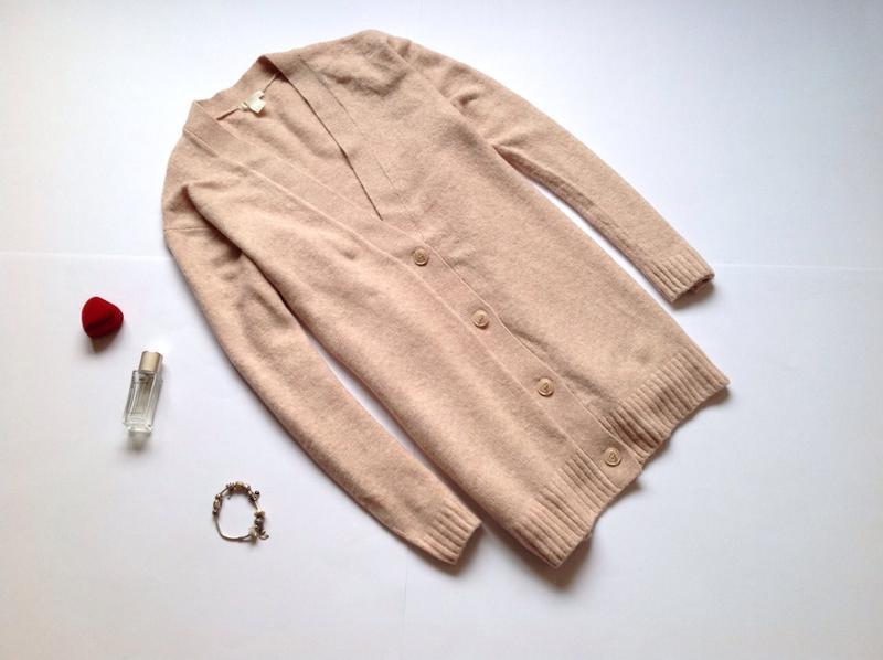 Длинный тёплый свитер кардиган h&m