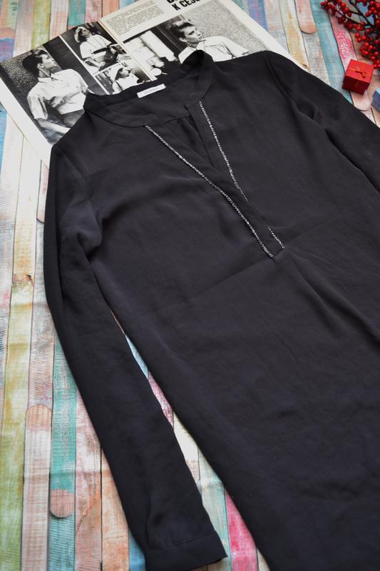 Удлиненная шифоновая блуза туника с люрексом promod