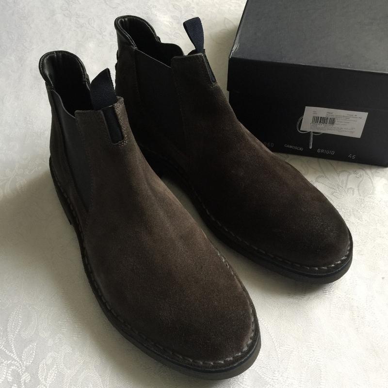 Ботинки челси натуральная замша giardini 45 размер, стелька 30см.