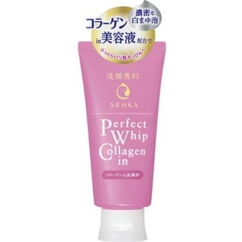 Пена для умывания shiseido senka perfect whip collagen in, 120...