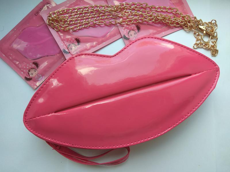 Сумка губы, сумка, стильная сумка, сумки тут, розовая