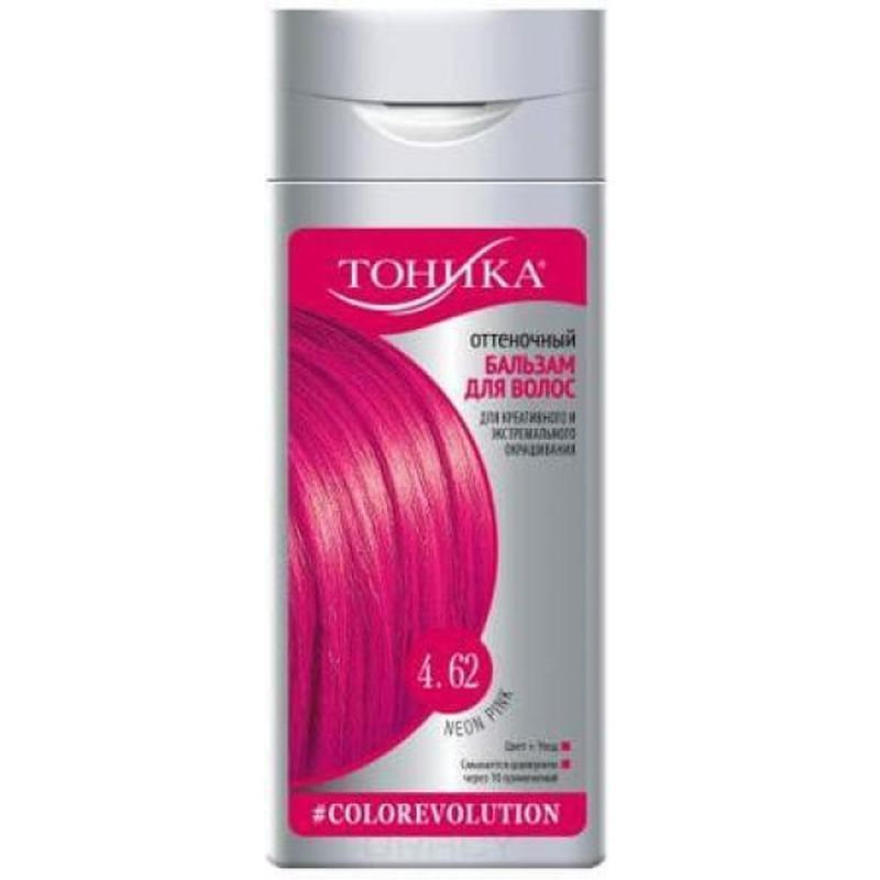 """Тоника оттеночный бальзам для волос 4.62, """"neon pink"""", 150 мл"""