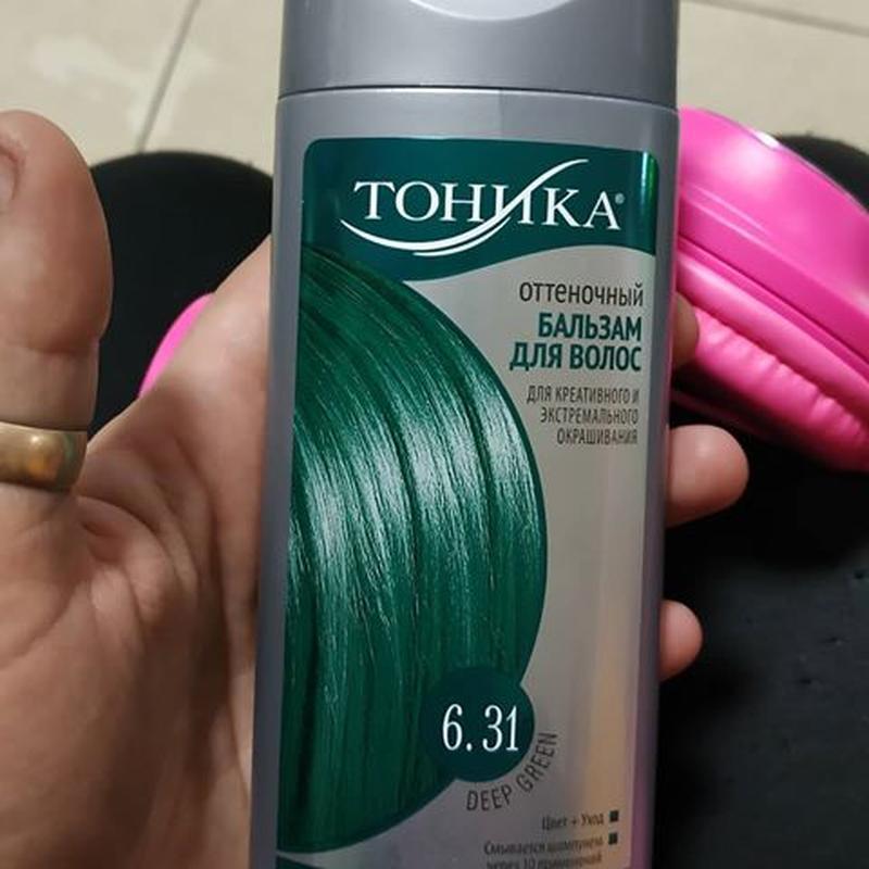 """Тоника оттеночный бальзам для волос """"deep green"""" 6.31, 150 мл - Фото 2"""