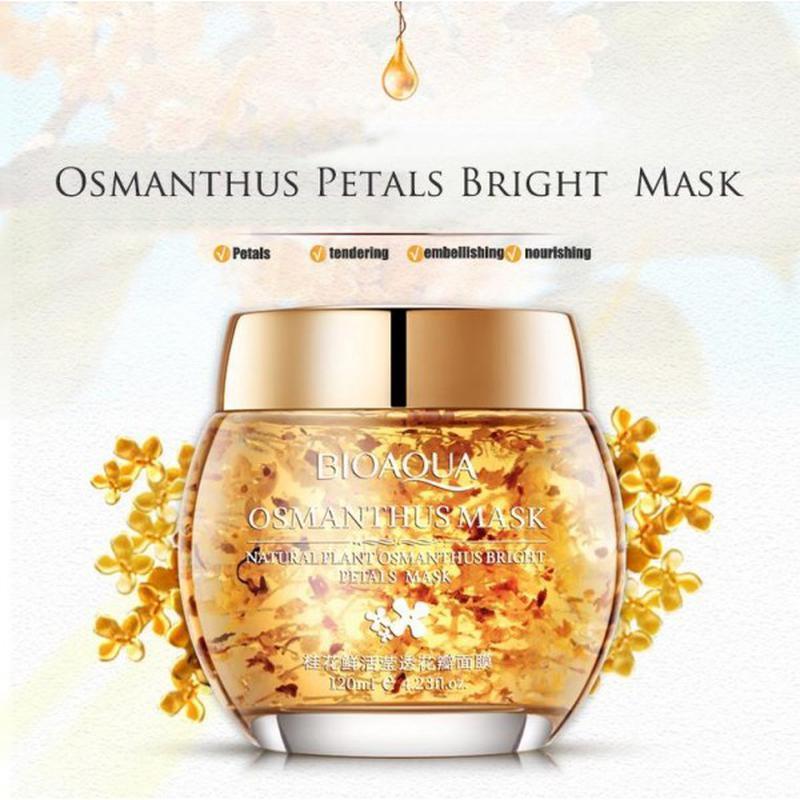 Ночная увлажняющая крем-маска для лица bioaqua osmanthus mask,... - Фото 3