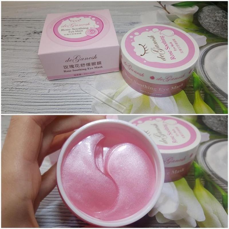 Патчи гидрогелевые для глаз розовые rose soothing, 80 шт