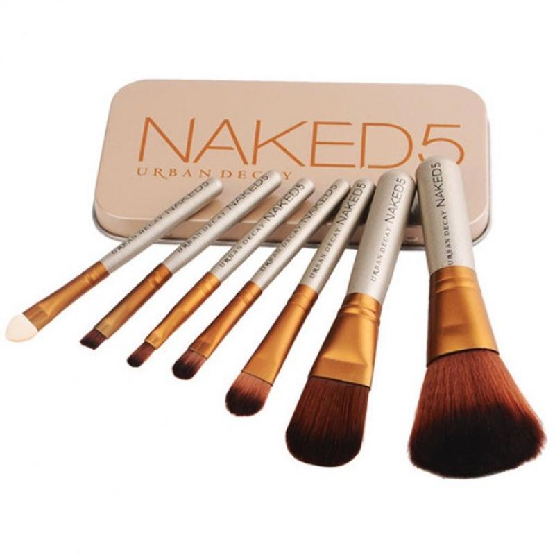 Кисти для макияжа naked5, 7 шт