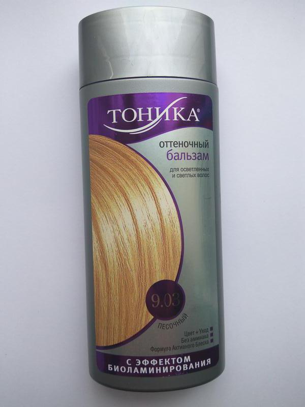 """Тоника оттеночный бальзам для волос """"песочный"""" 9.03 - Фото 2"""