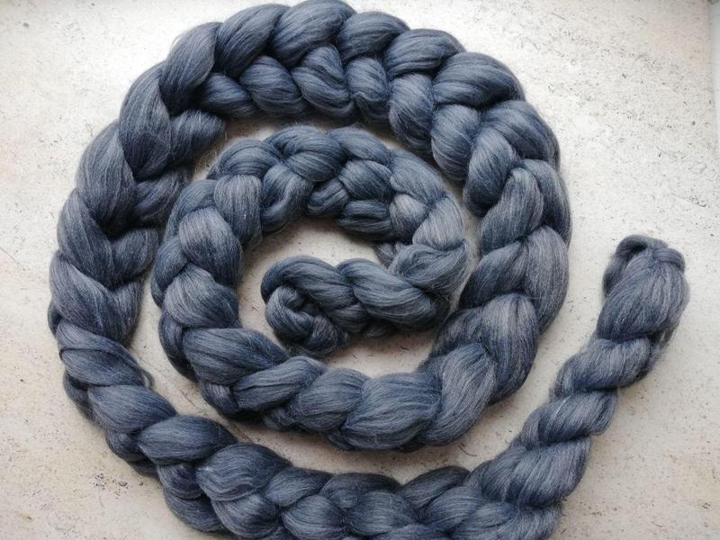 Шарф крупной вязки, вязаный шарф, темно-серый