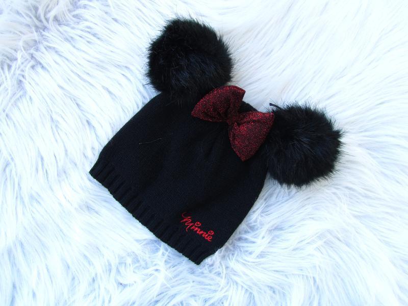 Стильная теплая  шапка disney minnie mouse