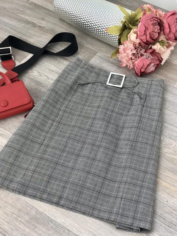 Шикарная юбка в клетку , офисная юбка,юбка в клетку