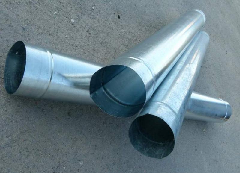 Изготовление труб 100-200 мм из оцинковки