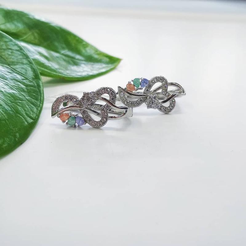 Срібні сережки з каленим кварцем