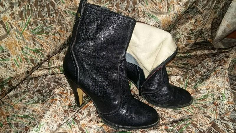 Оч крутые кожаные ботинки