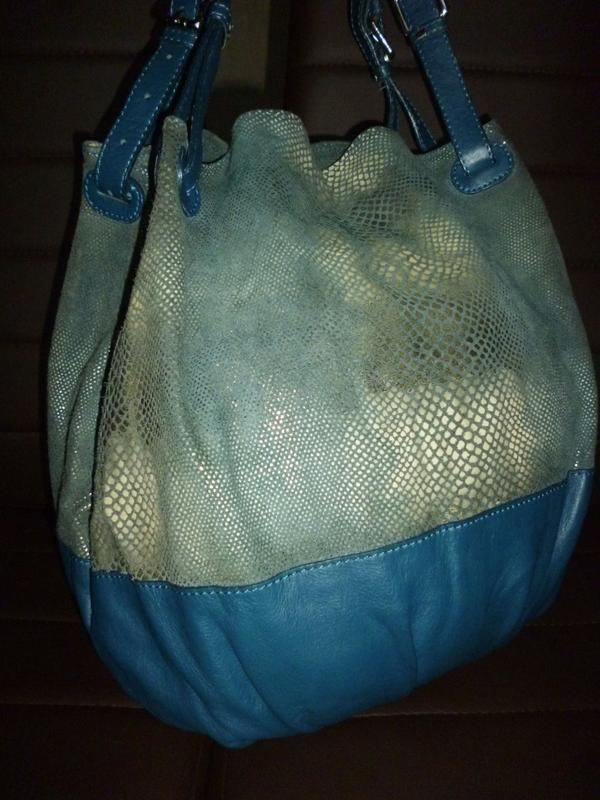 Стильная большая сумка натуральная кожа borse in pelle италия - Фото 3