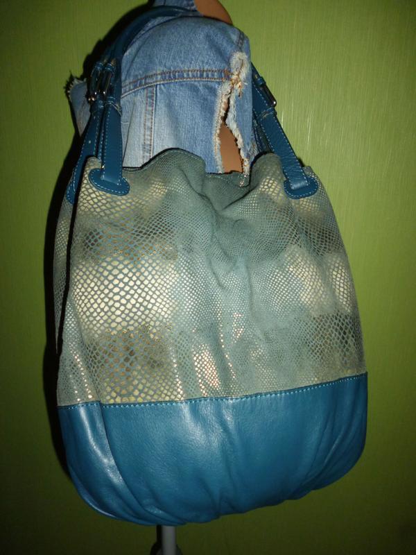 Стильная большая сумка натуральная кожа borse in pelle италия - Фото 5