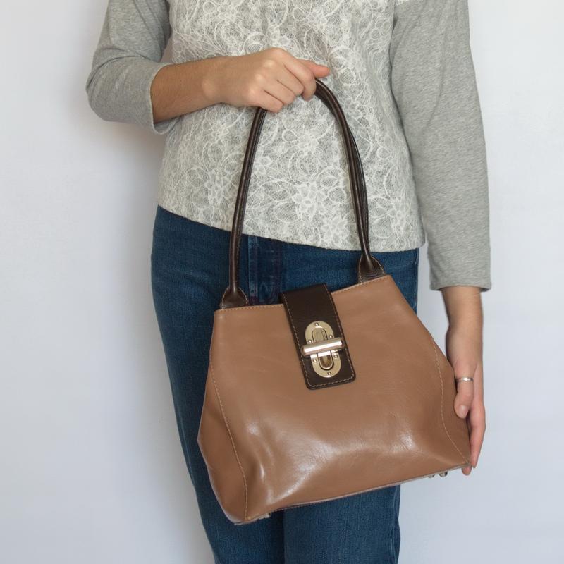 Актуальная сумка vera pelle, италия, натуральная кожа