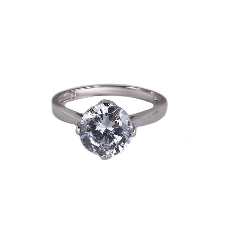 Кольцо для помолвки серебряное