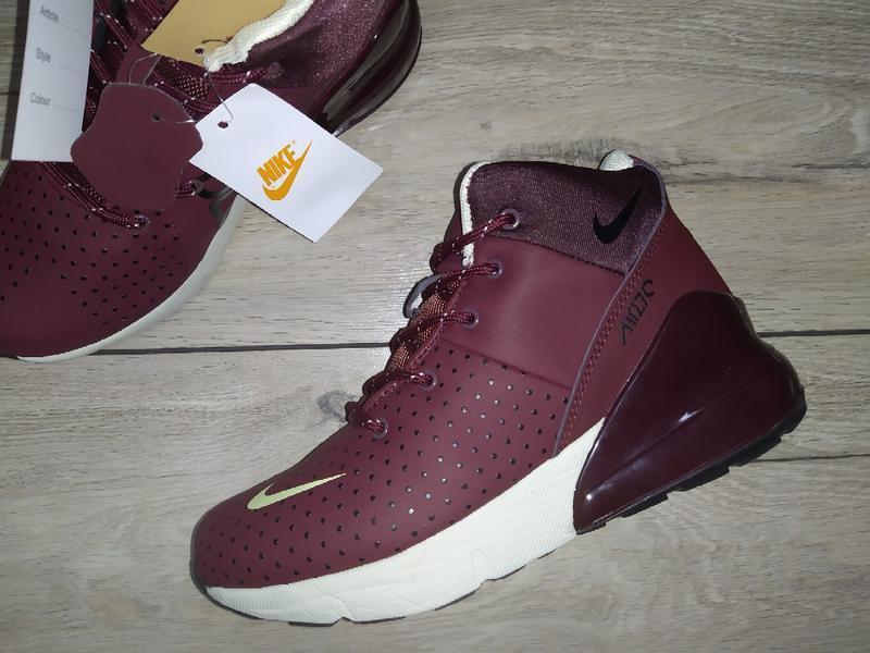 Ботинки зимние nike air 270  зима женские кроссовки