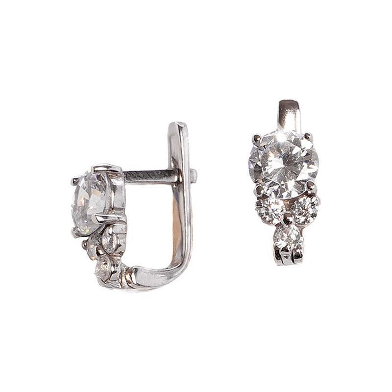 Серебряные серьги «снеговик»