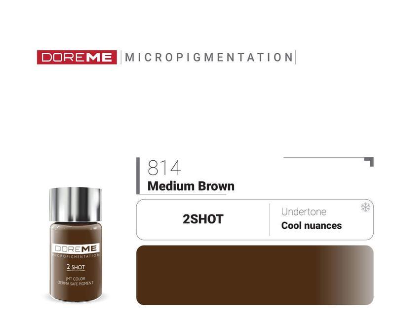 Пигменты для татуажа 814 Medium Brown Doreme 2Shot Pigments