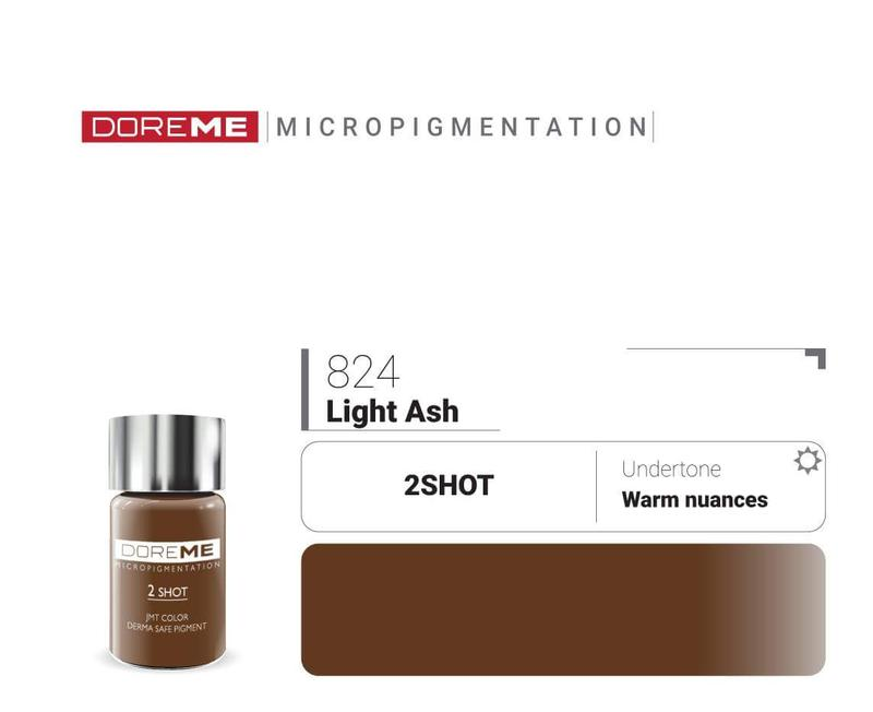 Пигменты для татуажа Doreme 824 LightAsh Doreme 2Shot Pigments