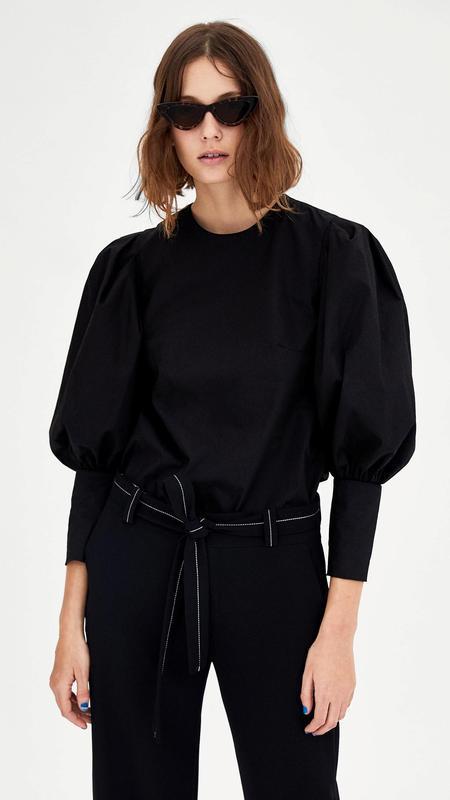 "Блуза с объемными рукавами ""zara woman"""