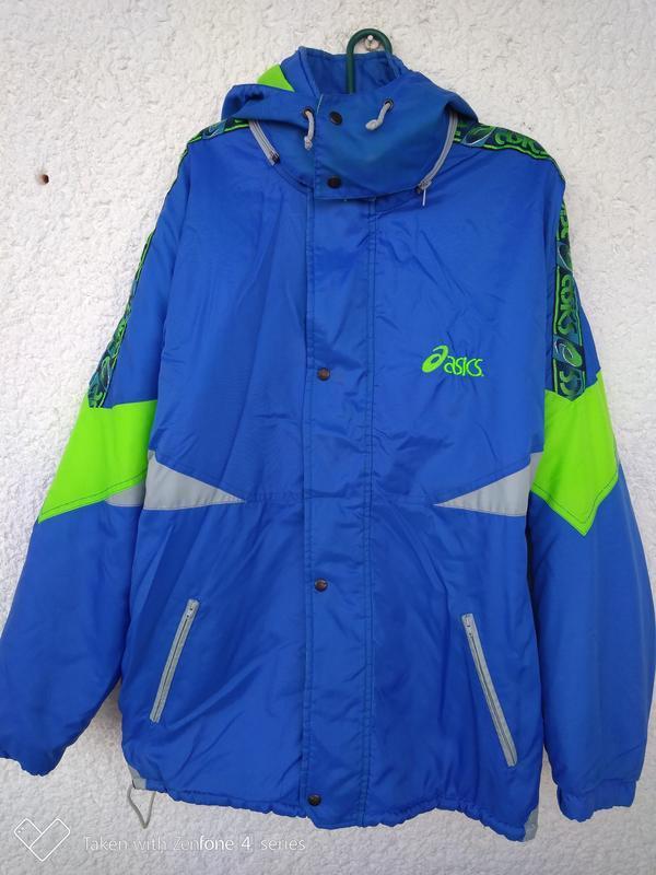 Куртка мужская asics винтаж слампасами xl асикс
