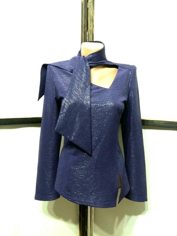 Праздничная нарядная вечерняя винтажная блуза с завязками брен...