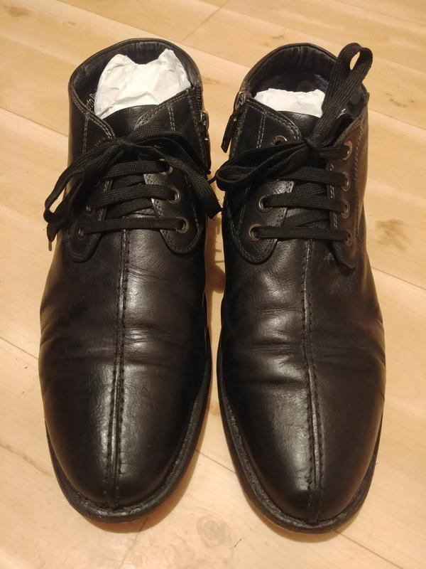 Кожаные ботинки roberto paulo(49 размер)