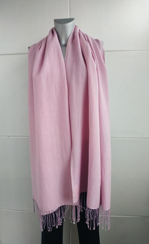 Изумительный шарф, палантин pashmina сиреневого цвета - Фото 2