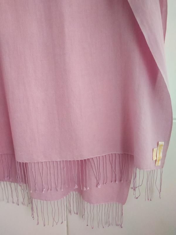 Изумительный шарф, палантин pashmina сиреневого цвета - Фото 6