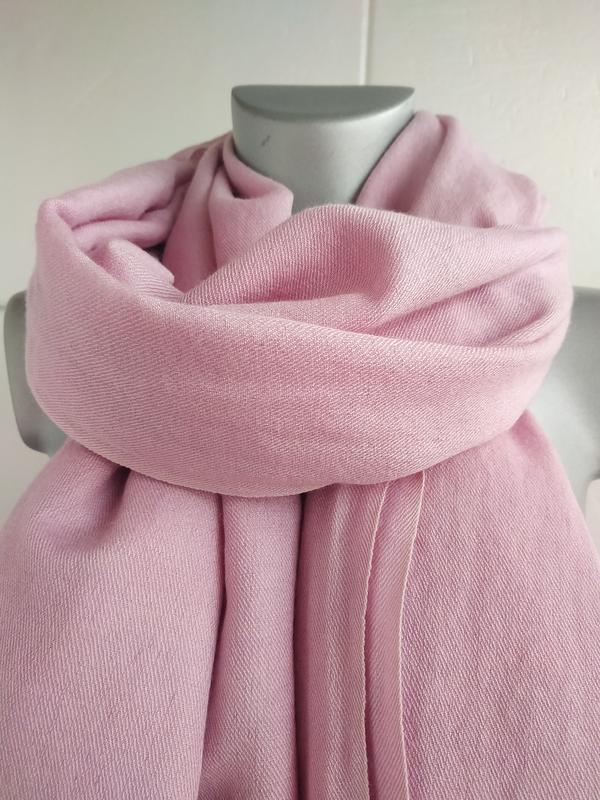 Изумительный шарф, палантин pashmina сиреневого цвета - Фото 7