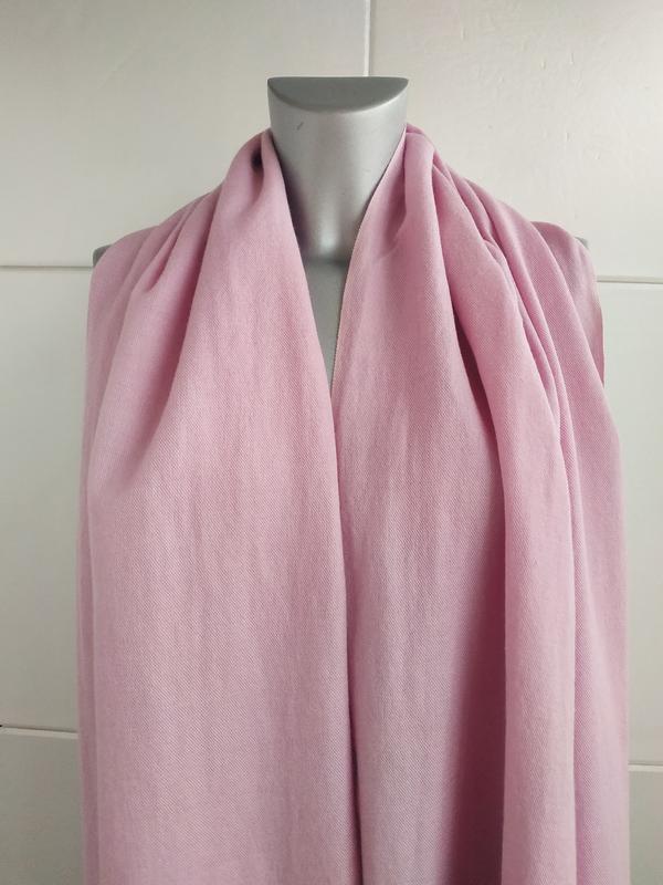 Изумительный шарф, палантин pashmina сиреневого цвета - Фото 8