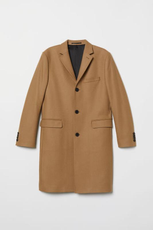 Пальто h&m шерсть+кашемир размер 52