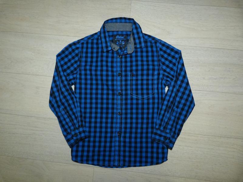Рубашка в клетку rebel 4-5 лет